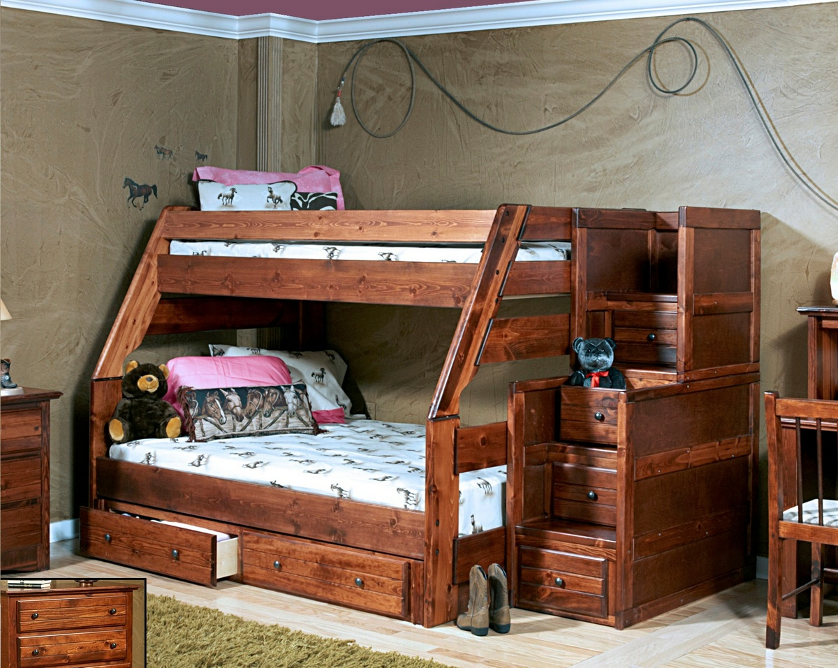Twin Bunk Bed Stairway Chest Storage