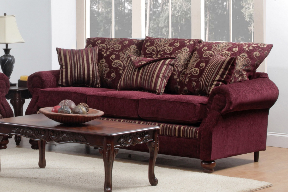 Chelsea Home Cole Sofa Santos Wine