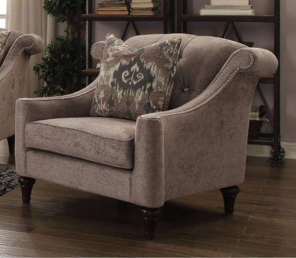 Acme Colten Chair Pillow Beige Fabric