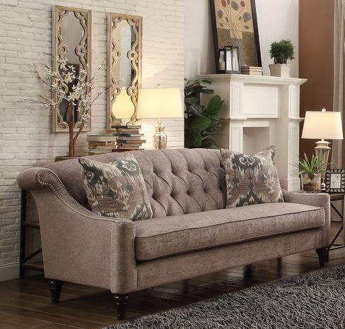 Acme Colten Sofa Pillows Beige Fabric
