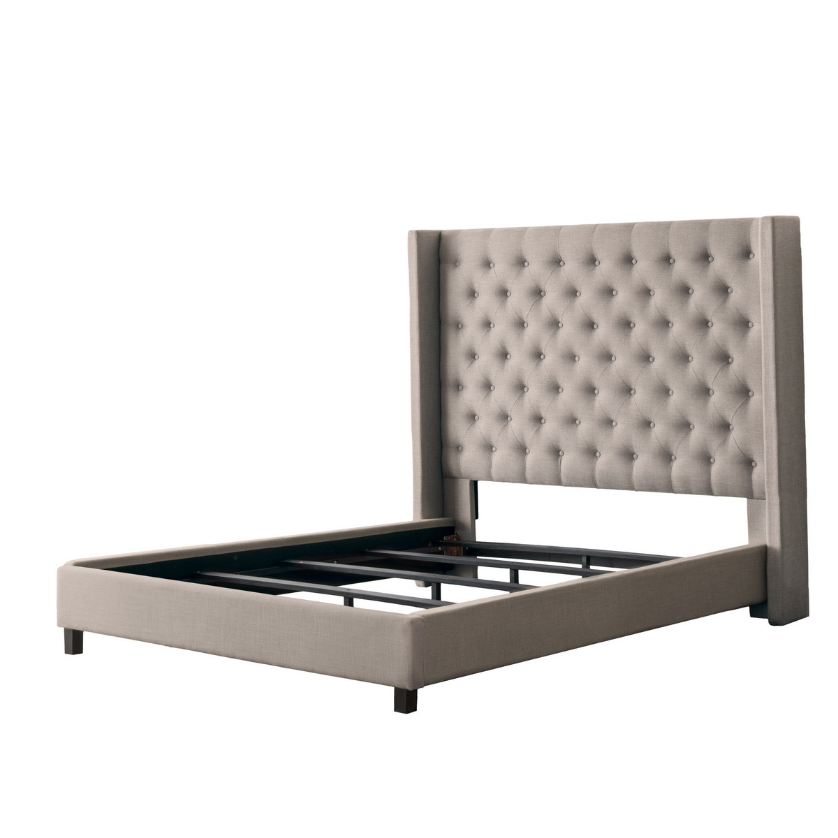 Corliving Tufted Bed Wings Double
