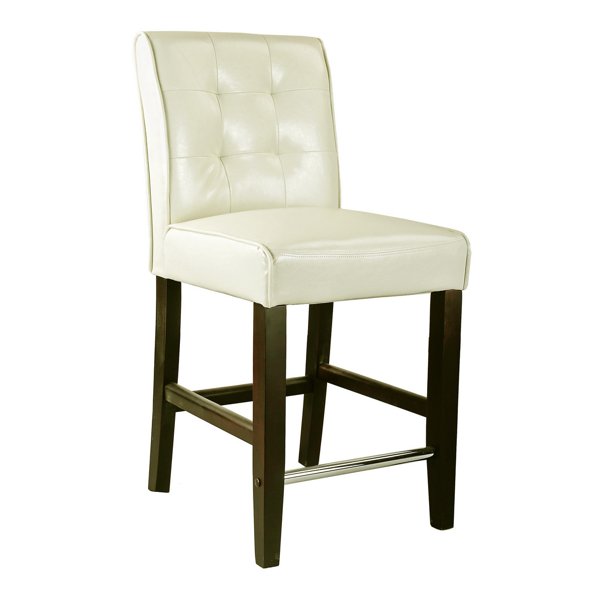 CorLiving DAD-414-B Antonio Counter Height Barstool in Cream White Bonded Leather
