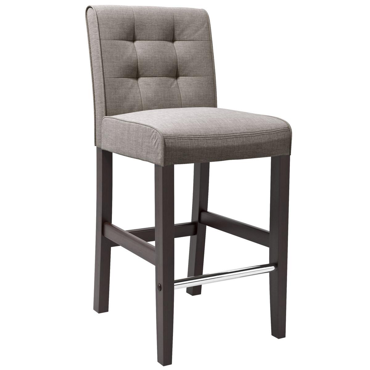 CorLiving DAD-423-B Antonio Bar Height Barstool in Grey Tweed Fabric