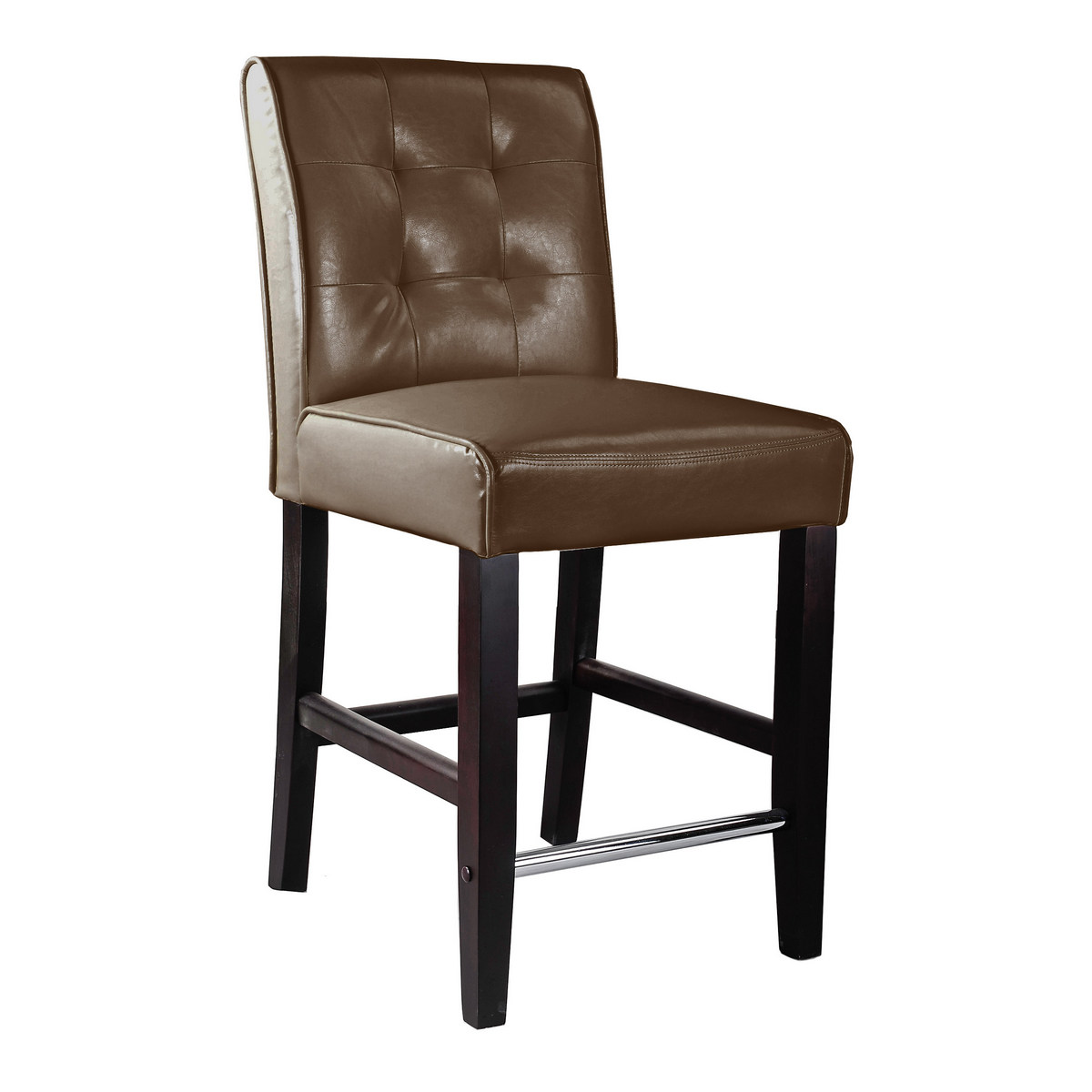 CorLiving DAD-484-B Antonio Counter Height Barstool in Dark Brown Bonded Leather