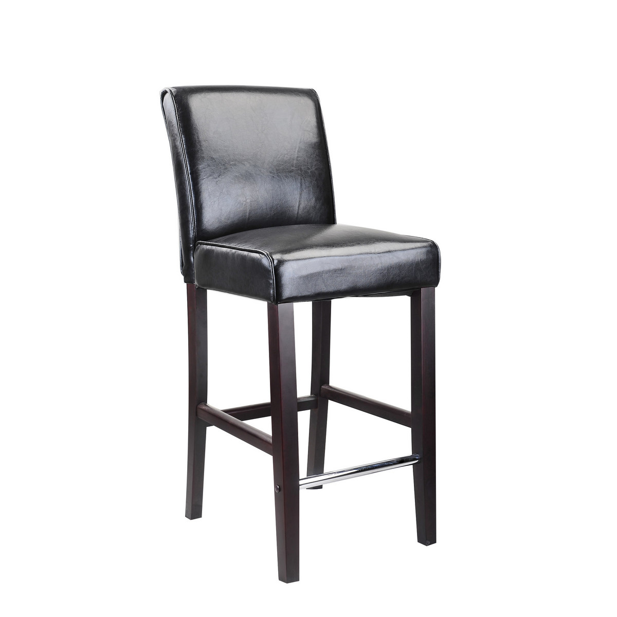 CorLiving DAD-503-B Antonio Bar Height Barstool in Black Bonded Leather
