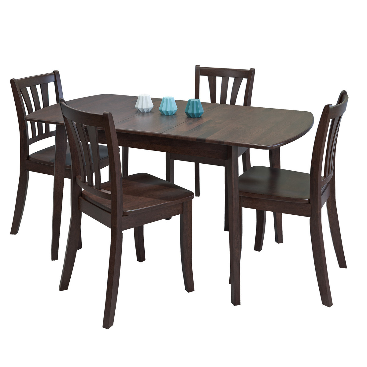 Corliving Extendable Stained Wood Dining Set