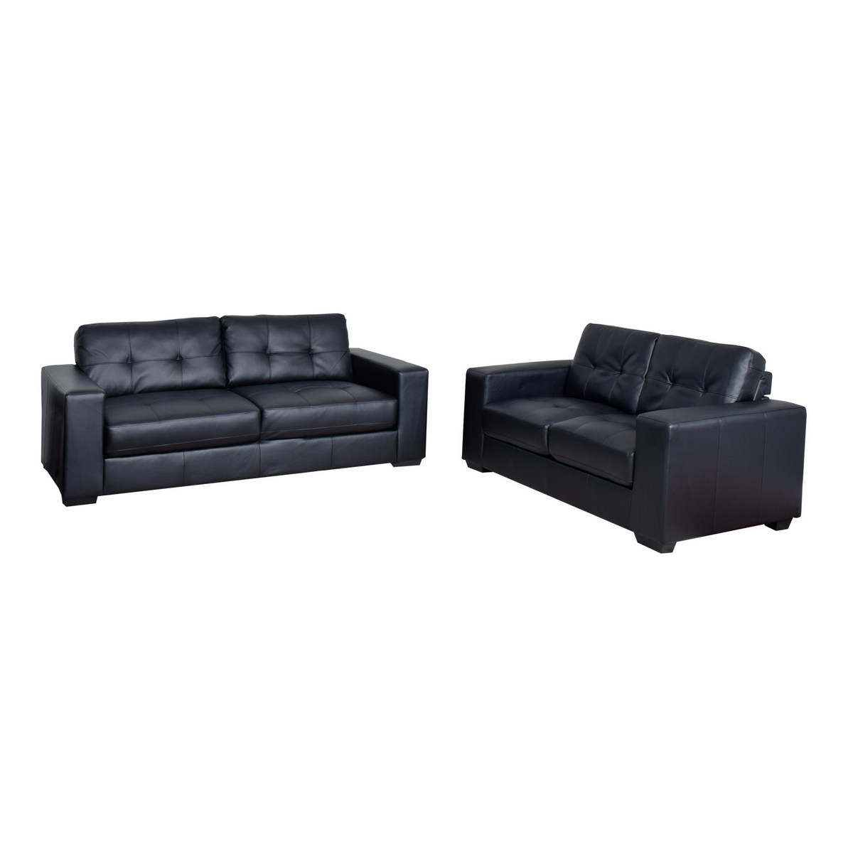 Corliving Tufted Sofa Leather Set