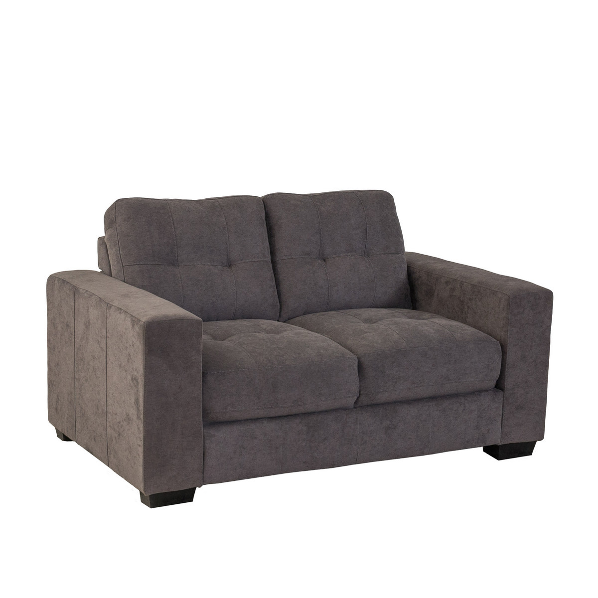 Corliving Club Tufted Grey Chenille Fabric Loveseat