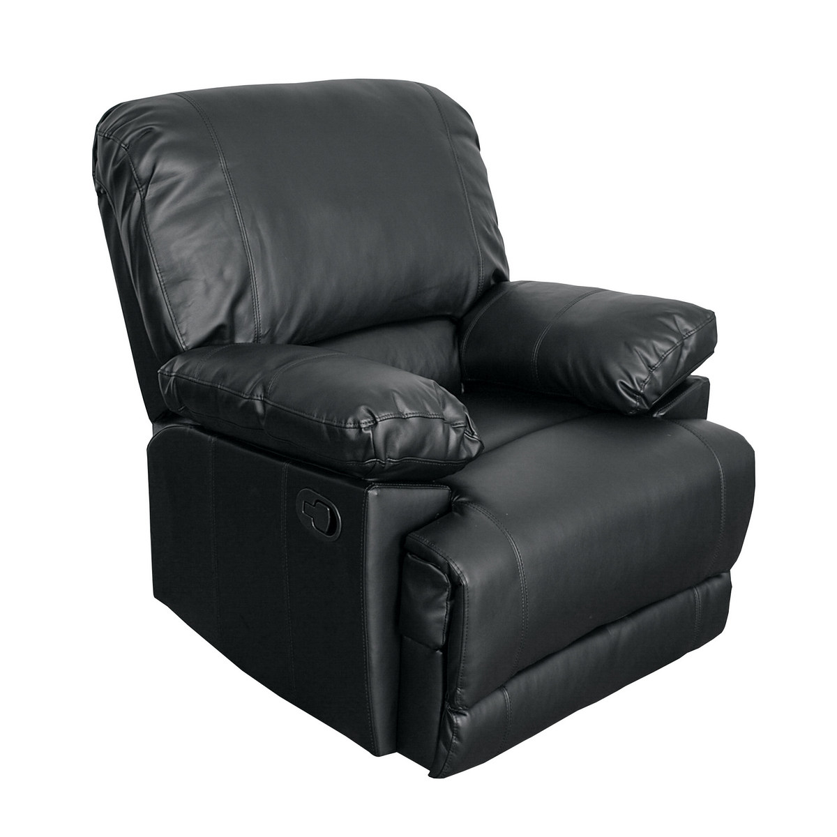 Corliving R Lea Black Bonded Leather Reclining Chair
