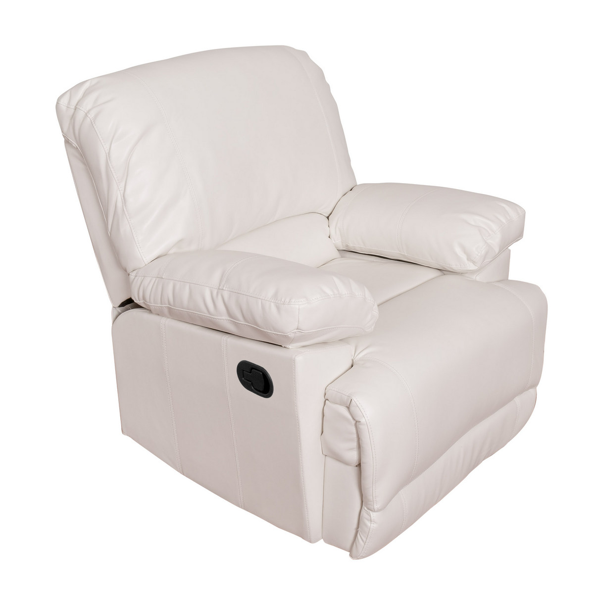 Corliving R Lea White Bonded Leather Reclining Chair