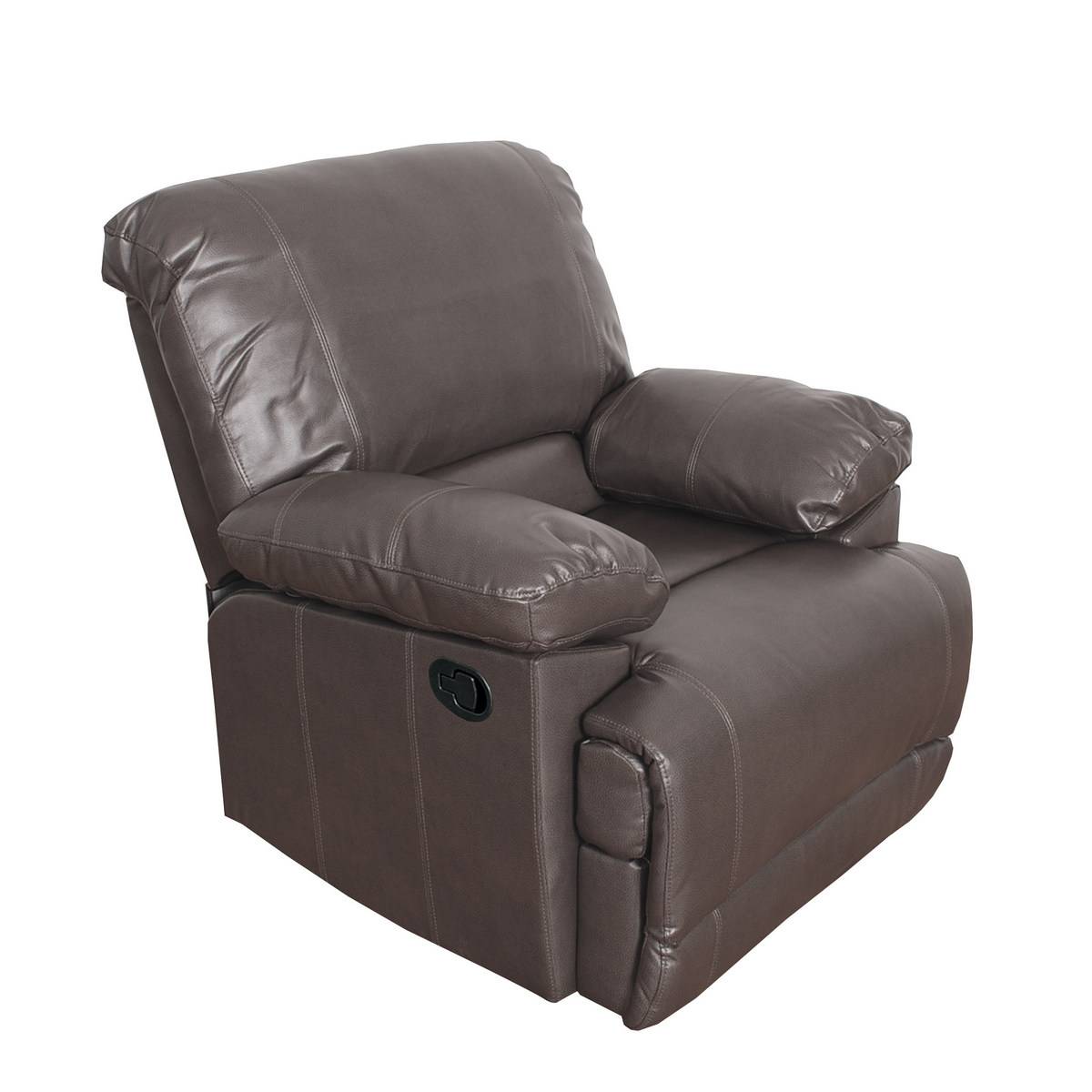 Corliving R Lea Brownish Grey Bonded Leather Reclining Chair
