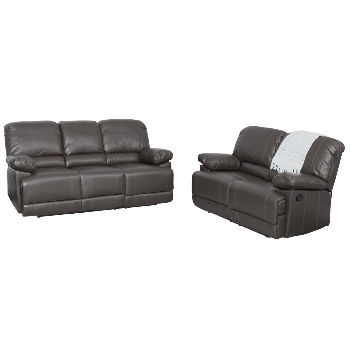 Corliving Bonded Leather Reclining Sofa Set