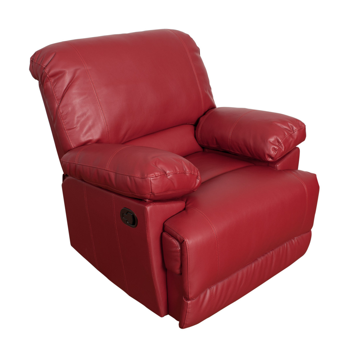 Corliving R Lea Red Bonded Leather Reclining Chair