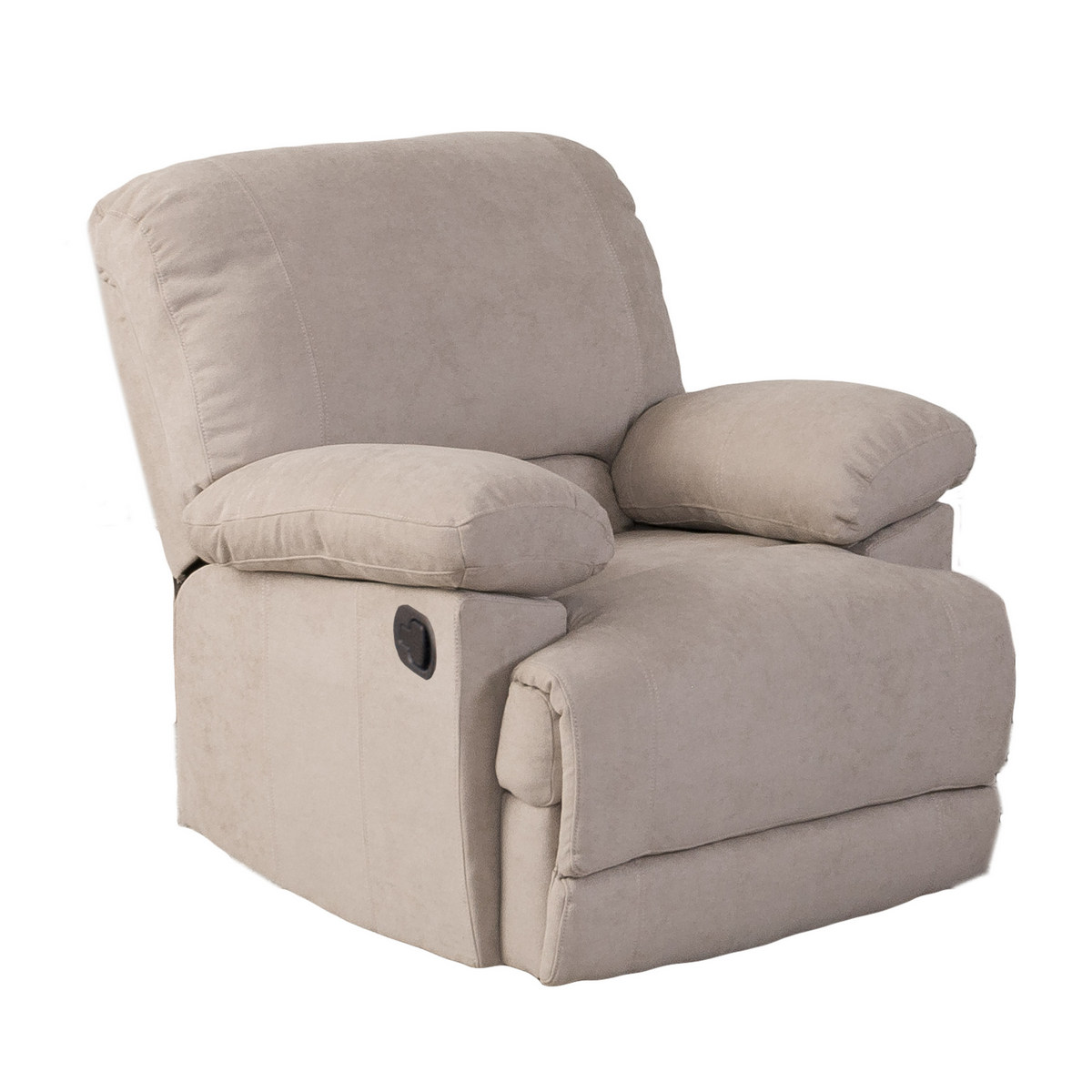 Corliving R Lea Beige Chenille Fabric Recliner