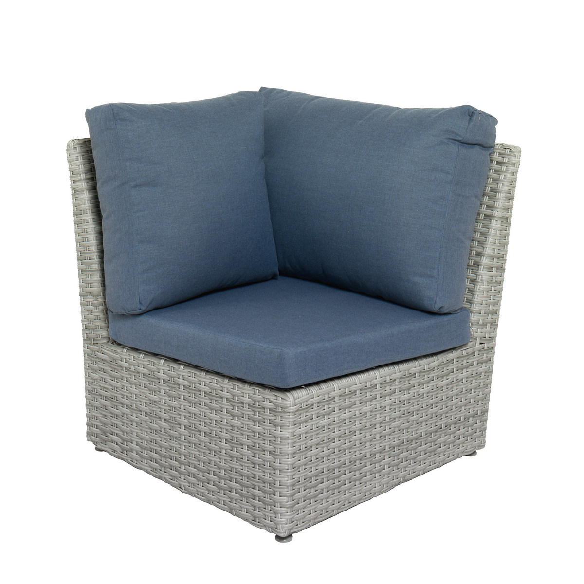 Corliving Weather Resistant Resin Wicker Corner Patio Chair