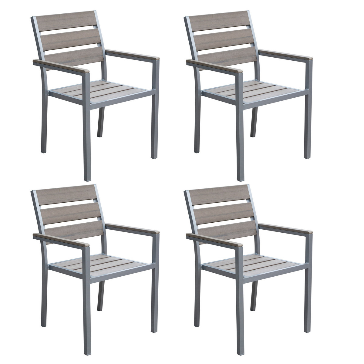 Sun Bleached Outdoor Dining Chairs