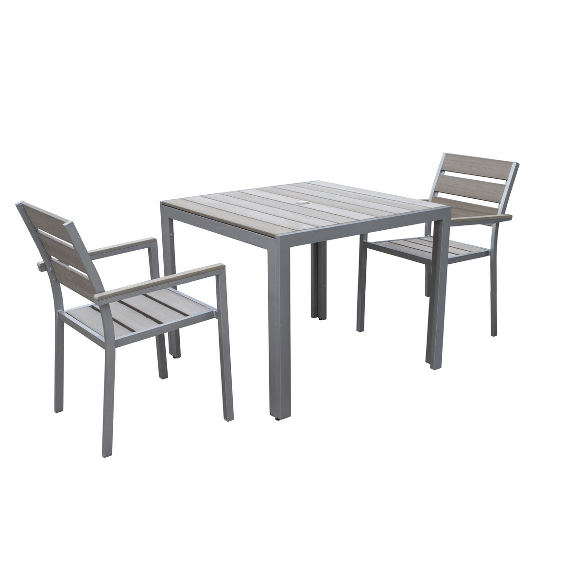 Sun Bleached Outdoor Dining Set