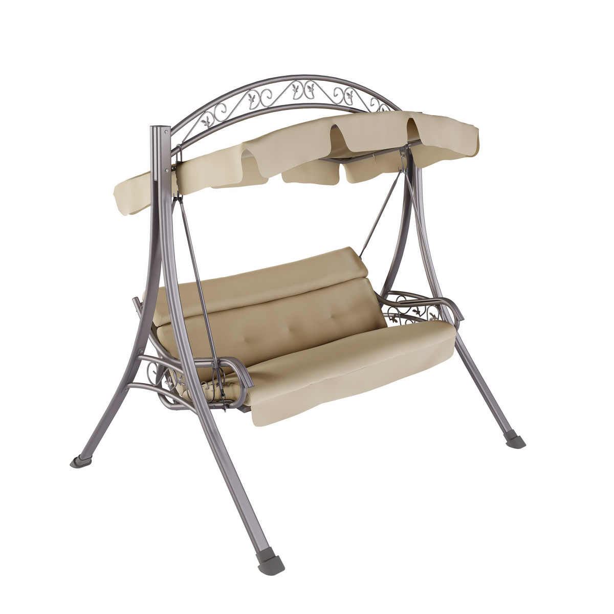Corliving Pnt Patio Swing Arched Canopy