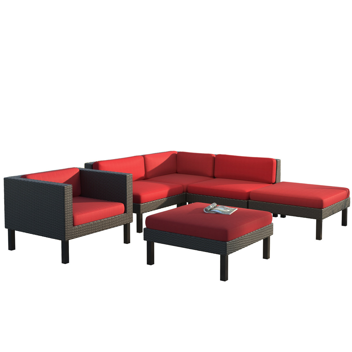 Corliving Sectional Chaise Lounge Chair Patio Set