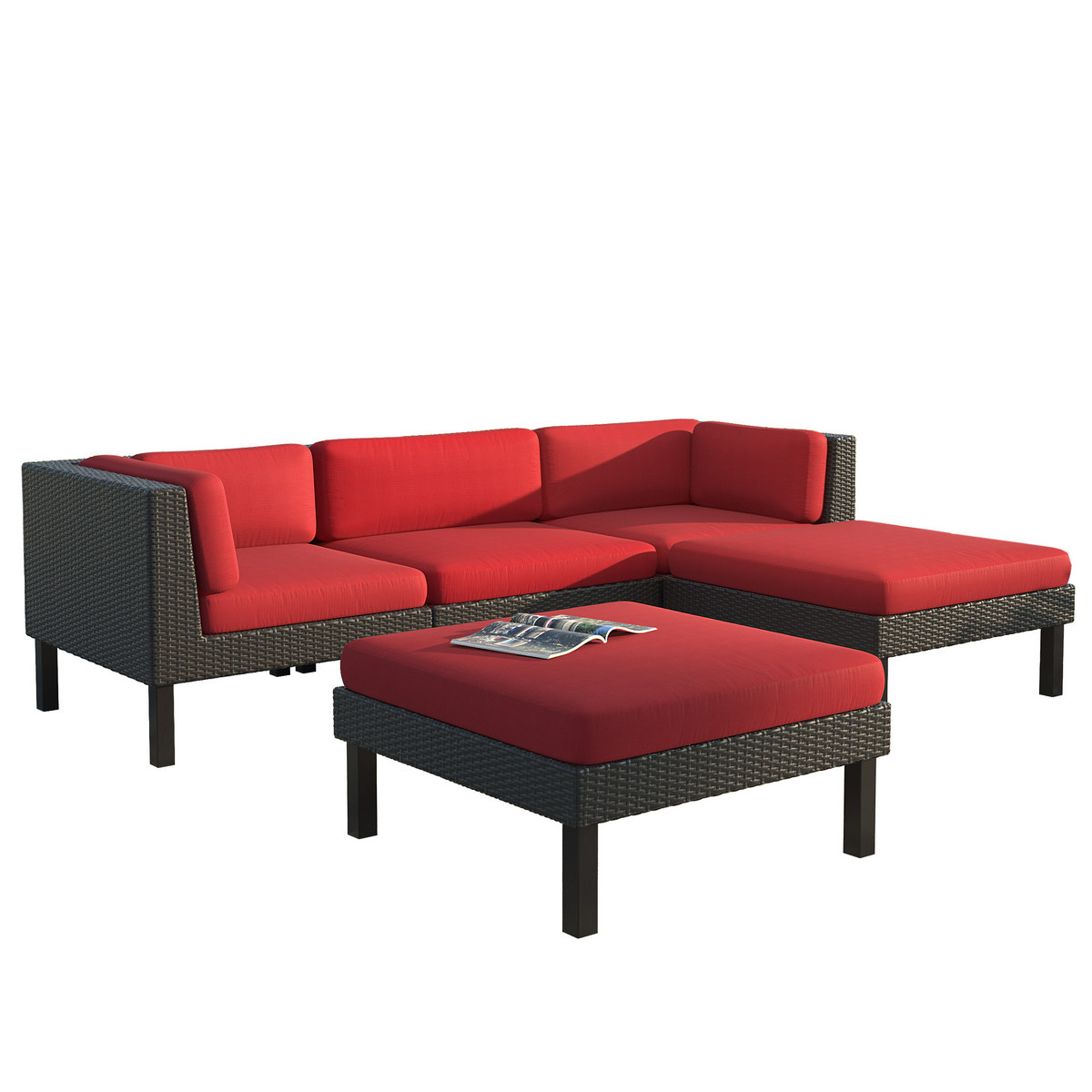Corliving Sofa Chaise Lounge Patio Set