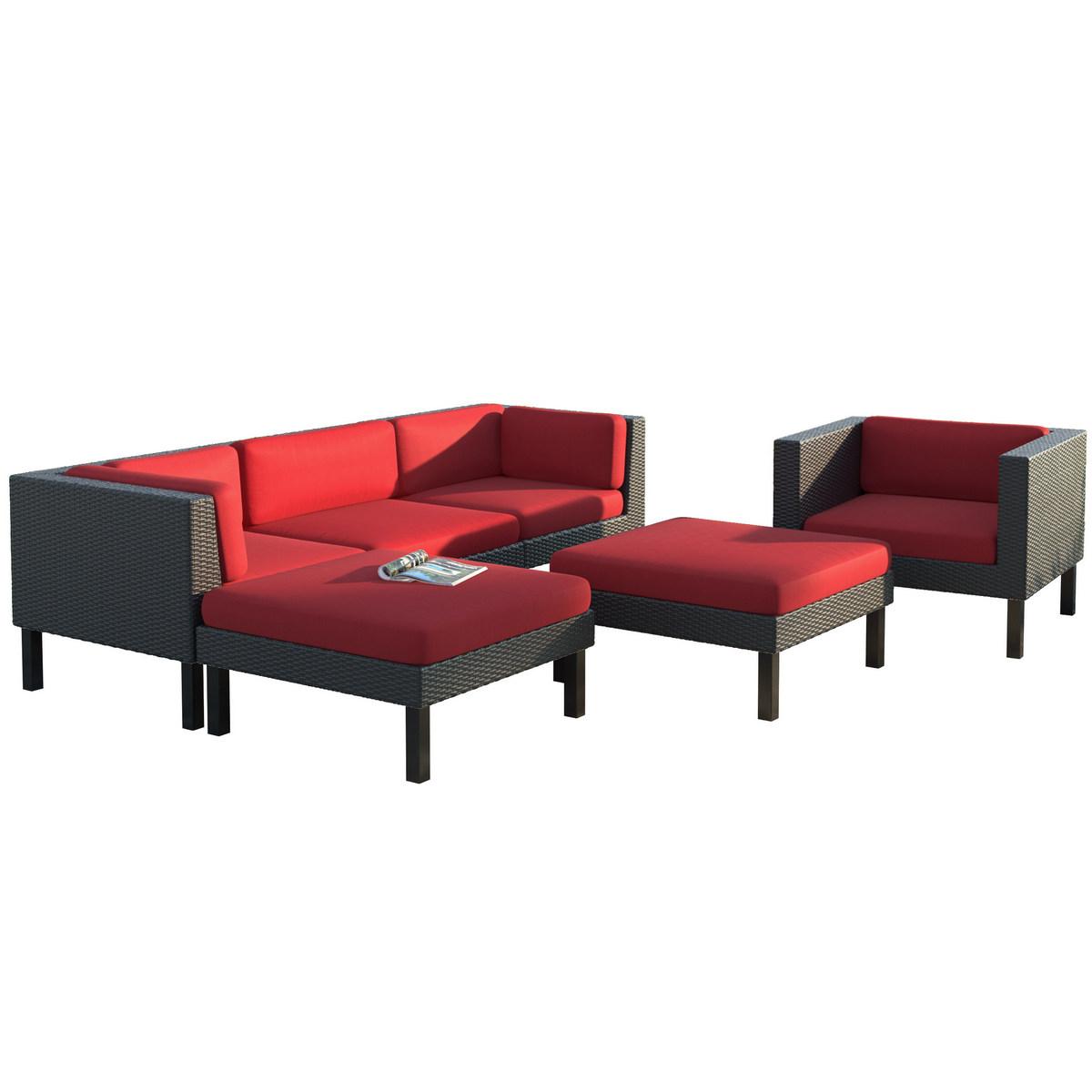 Sofa Chaise Lounge Chair Patio Set