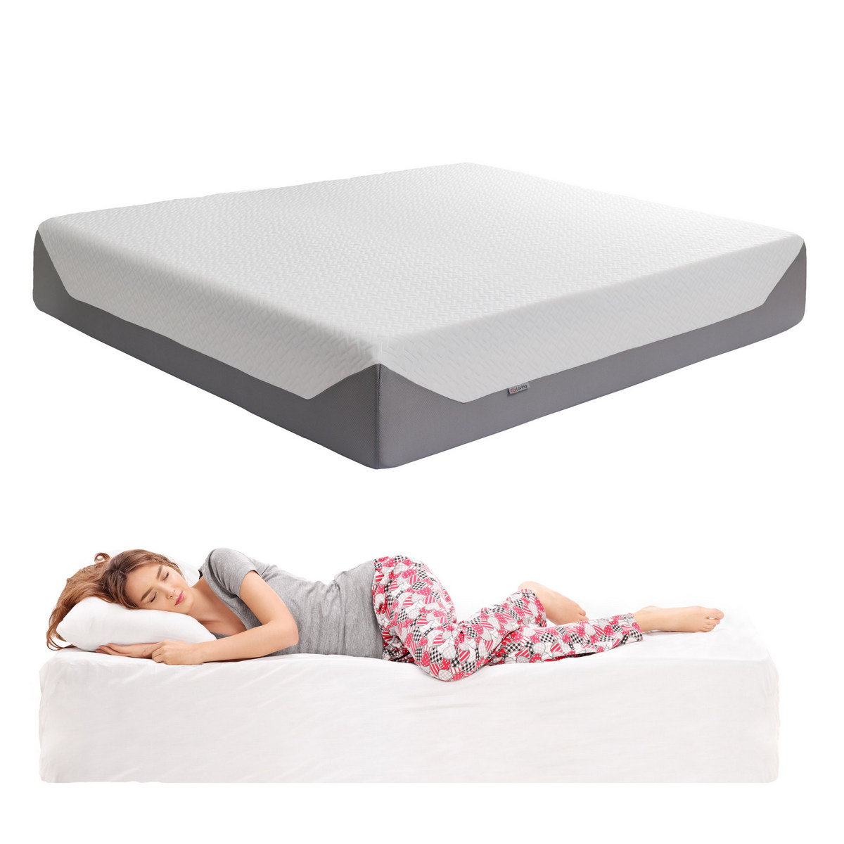 Corliving Sleep King Medium Firm Memory Foam Mattress