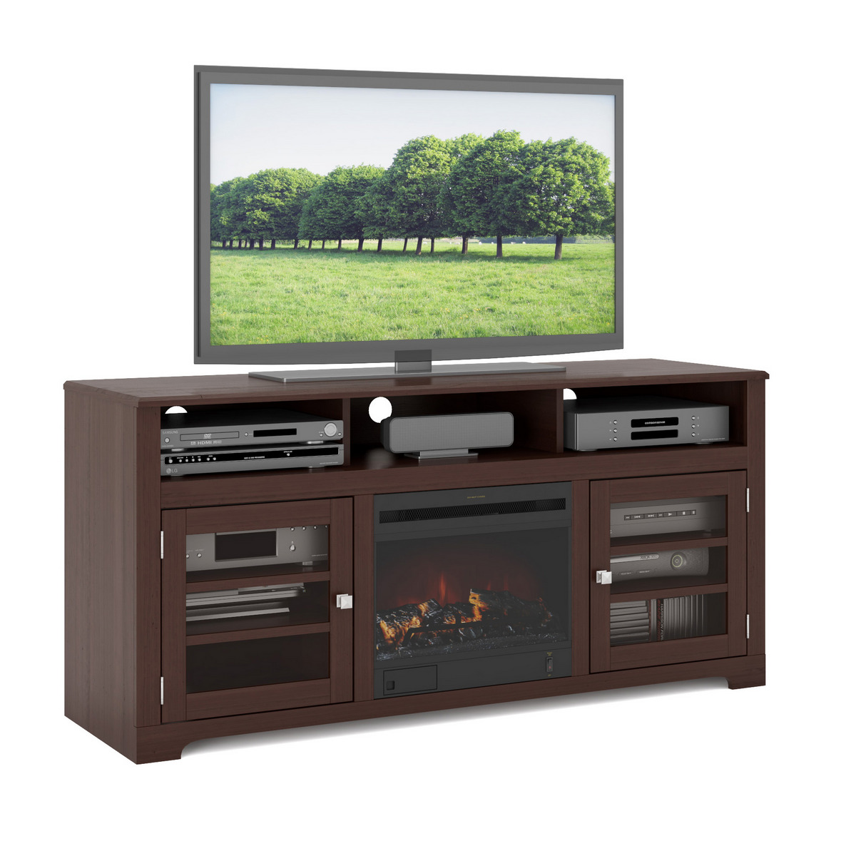 Corliving Fireplace Tv Bench
