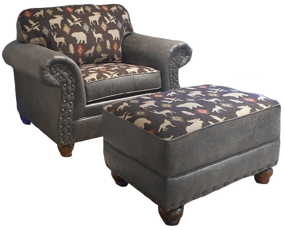 Chelsea Home Cornelius Chair Ottoman Group Palance Granite