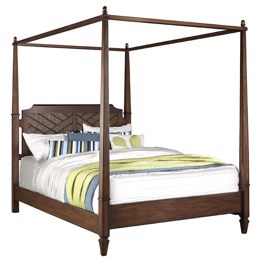 Progressive Coronado Complete King Canopy Bed Sable