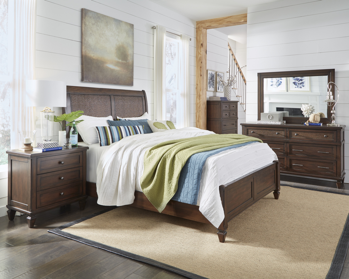 Progressive Coronado Complete King Panel Bed Sable
