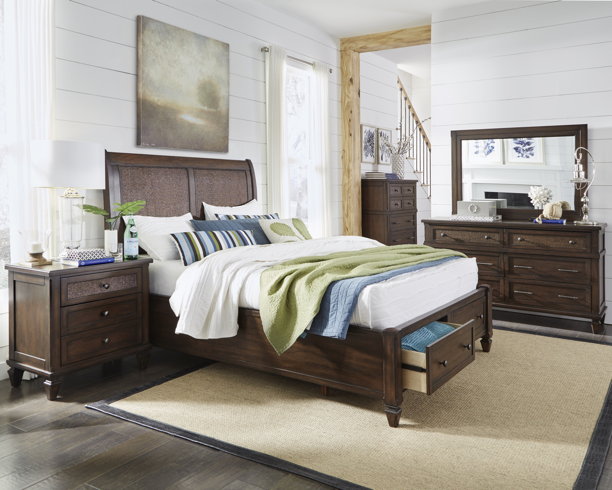 Progressive Coronado Complete King Storage Bed Sable