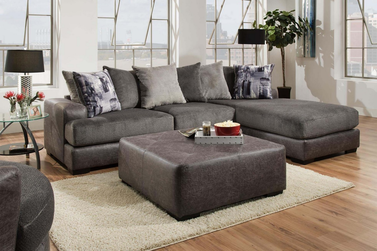 Chelsea Home Cristofer Sectional Wesley Dove