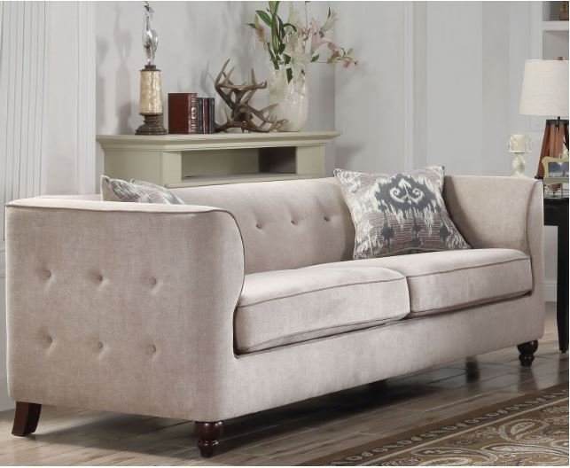 Acme Cyndi Sofa Pillows Light Gray Fabric