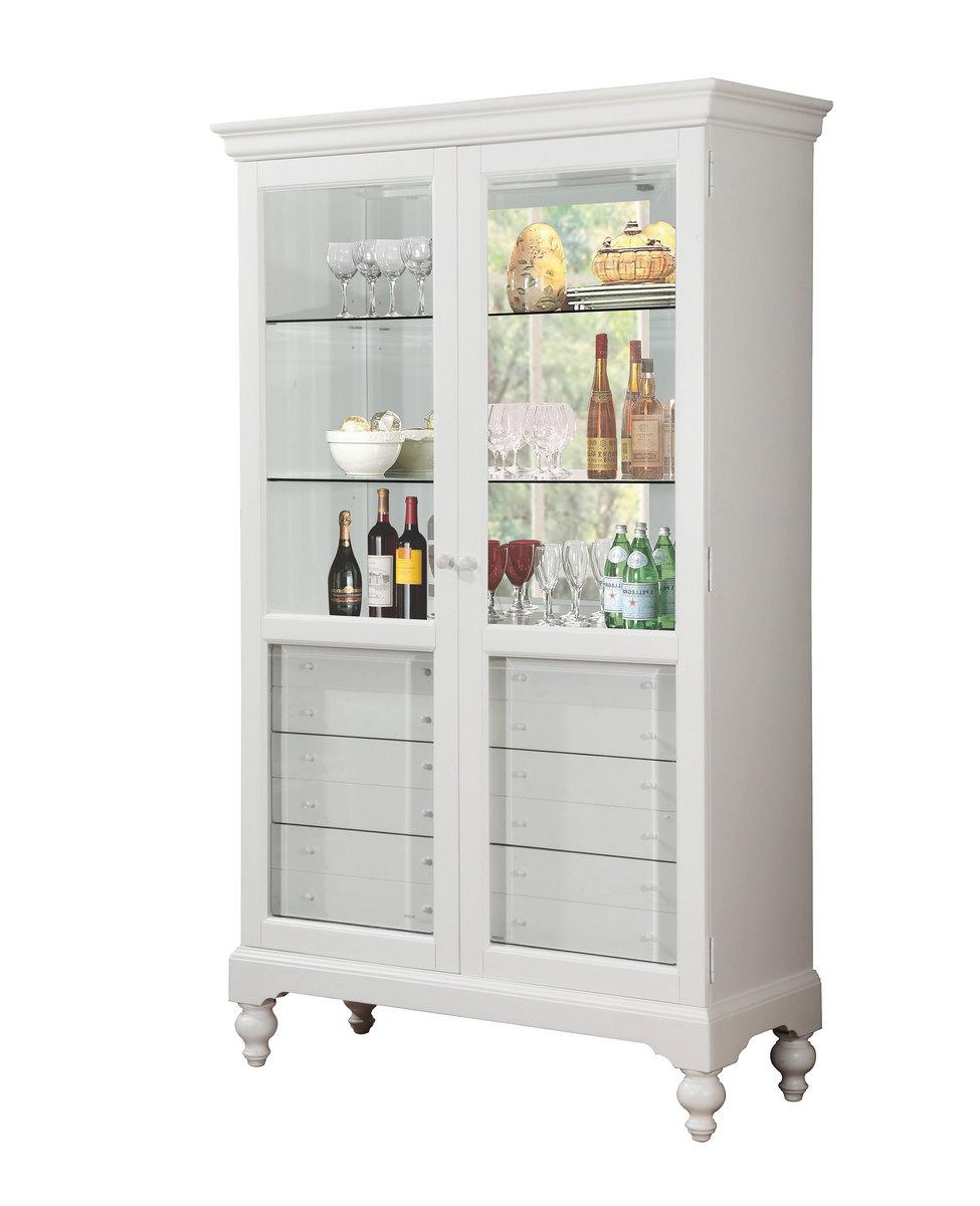 Acme Dallin Curio Cabinet White