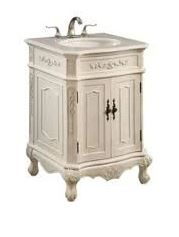 Elegant Lighting Danville Single Bathroom Vanity Set Antique White