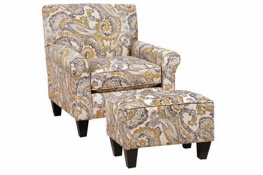 Chelsea Home Darryl Chair Ottoman Set Mccandliss Buttercup