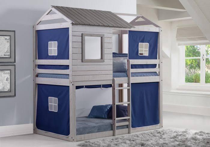 Deer Blind Bunk Loft W/Blue Tent - Donco 1370-TTLG/B