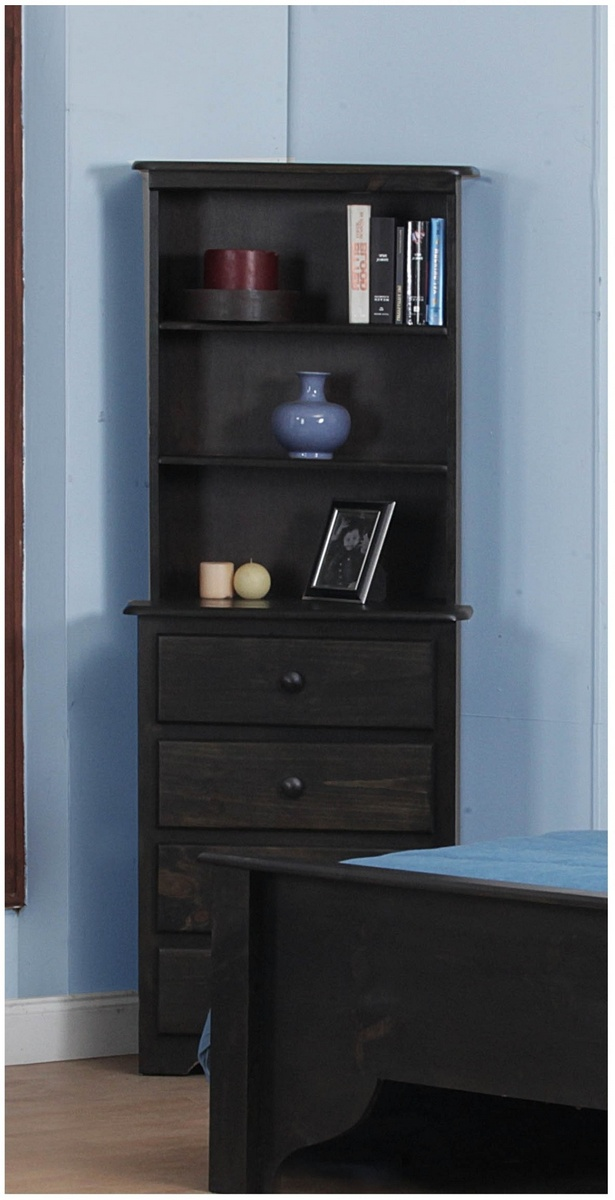 Chelsea Home Dighton Drawer Chest Hutch Black