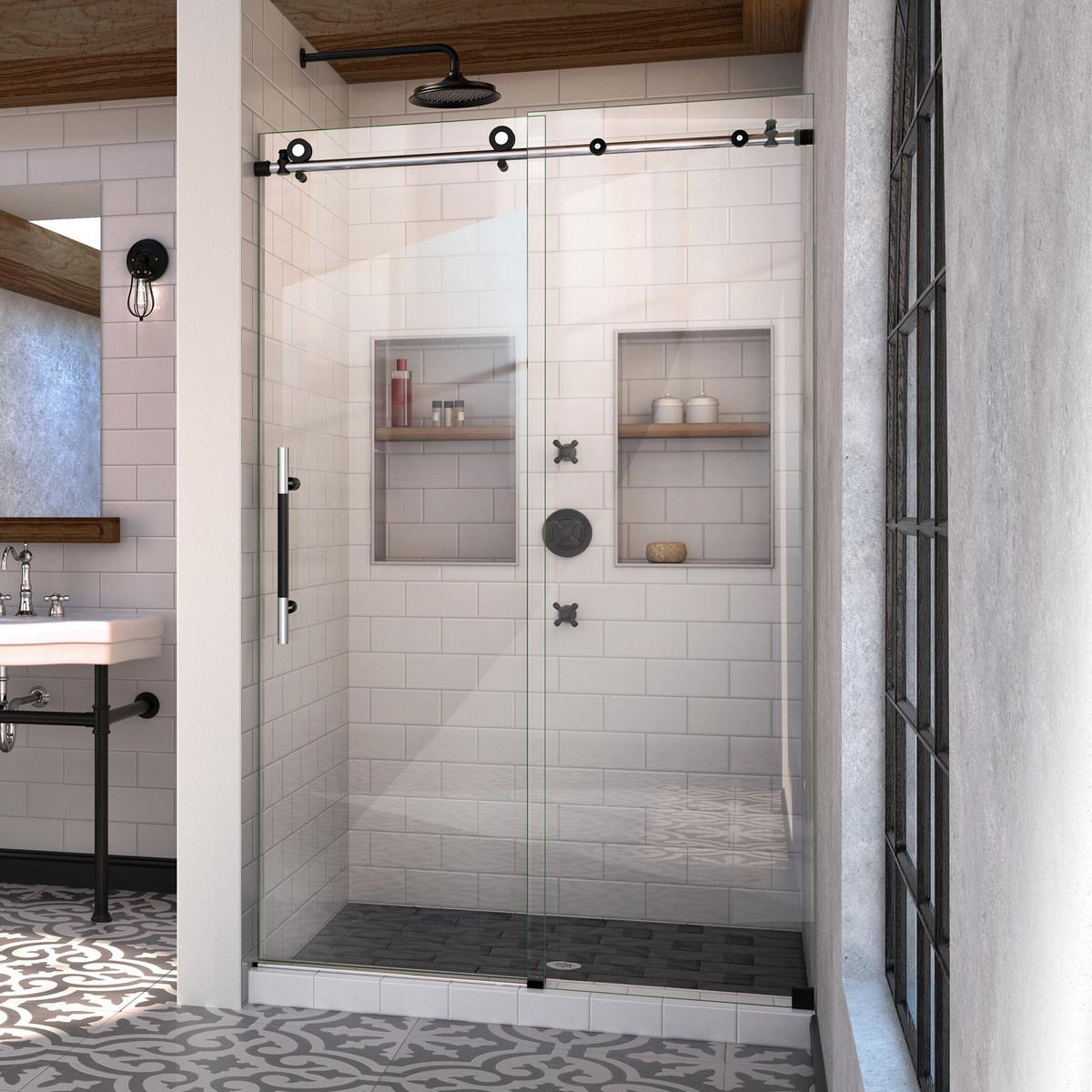 Dreamline Enigma Xt Fully Frameless Sliding Shower Door Tuxedo Finish