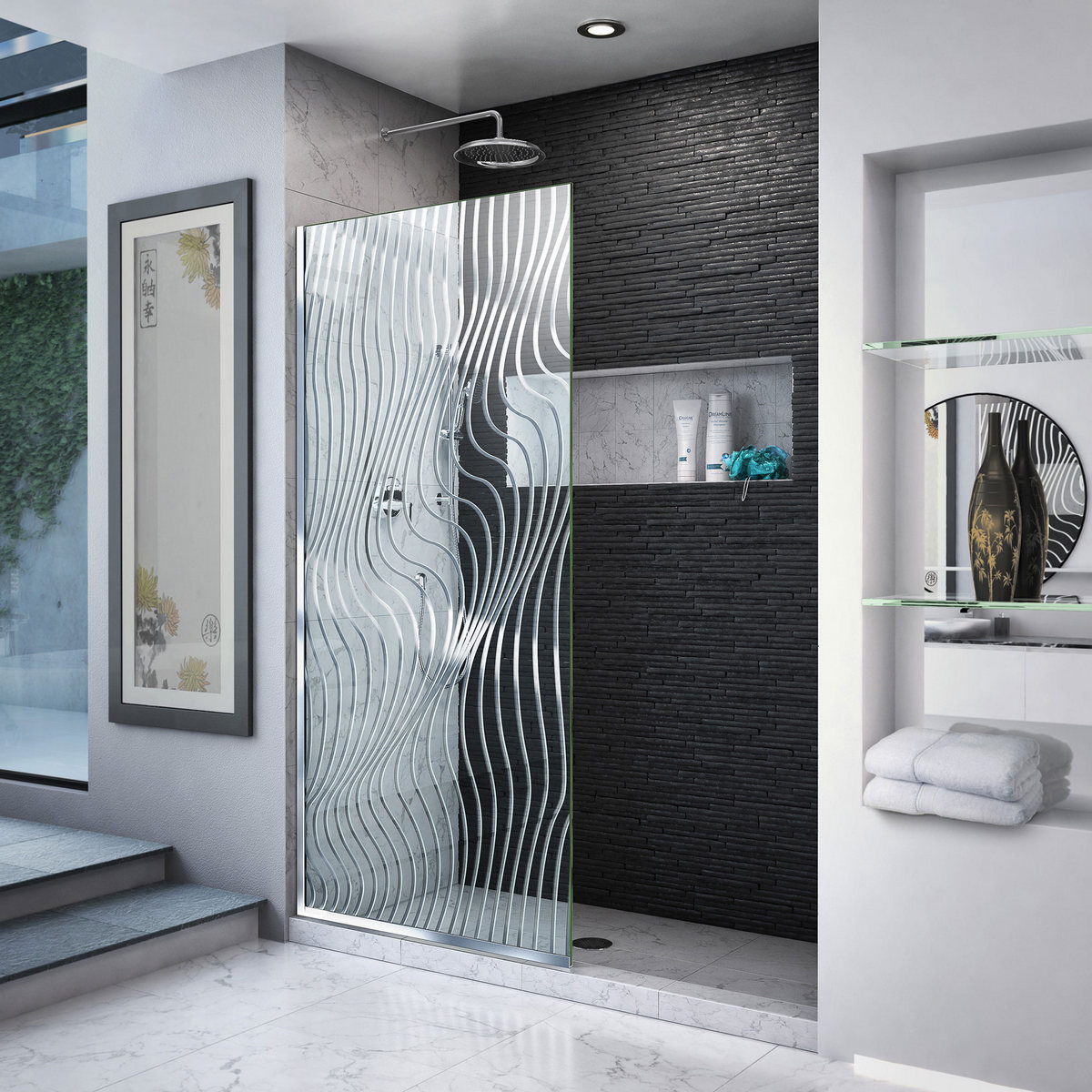 Dreamline Surf Single Panel Frameless Shower Screen Polished