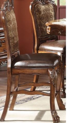 Acme Counter Height Chair Set Pu Cherry Oak