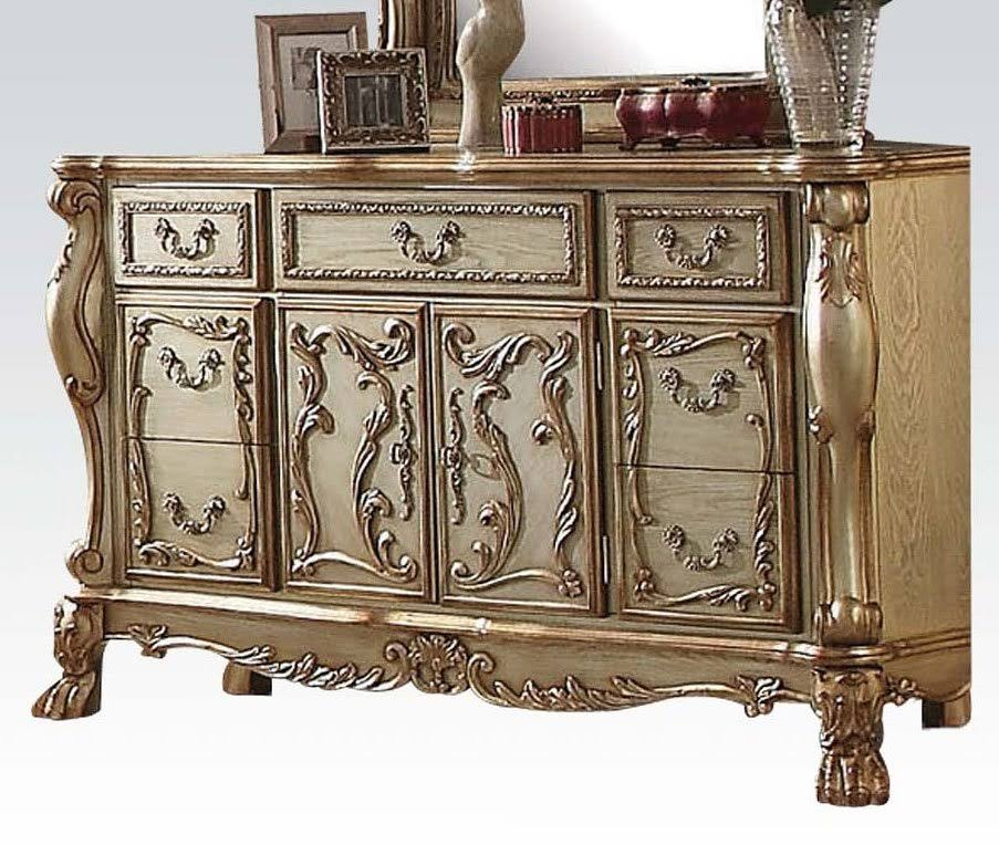 Acme Dresser Server Gold Patina Bone