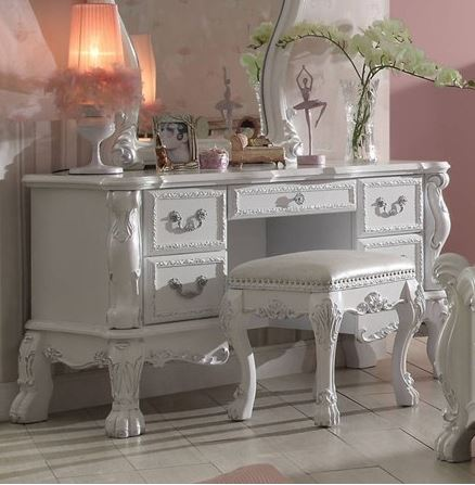 Acme Vanity Desk Antique White