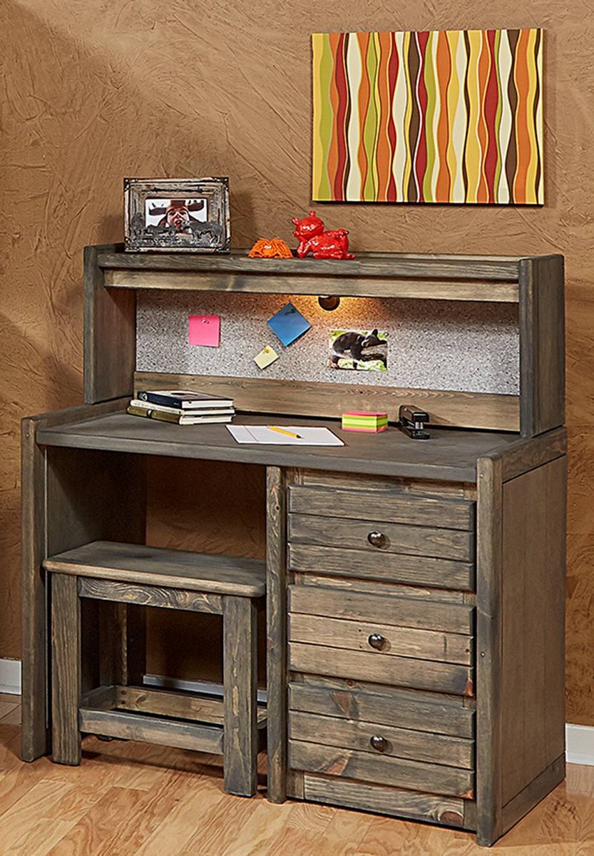 Chelsea Home Driftwood Student Desk Hutch