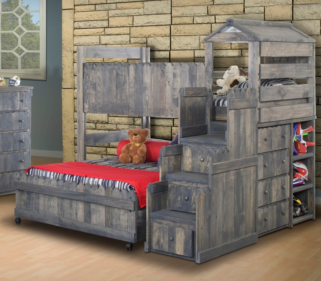 Chelsea Home Furniture Twin Fort Bed Stairway Chest Photo