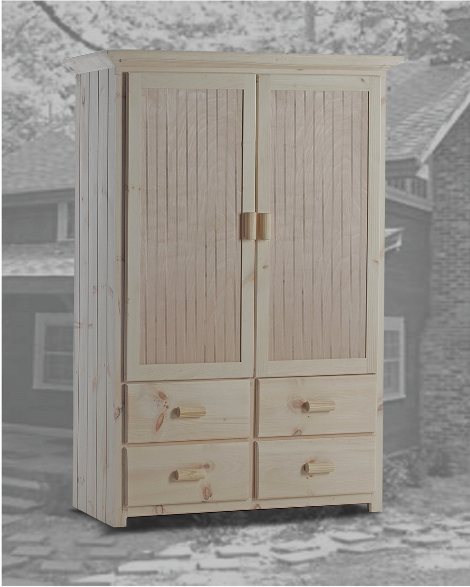 Chelsea Home Duxbury Cabin Armoire Drawers Unfinished