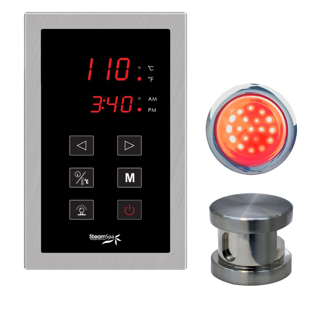 Steamspa Touch Panel Control Kit Brushed Nickel