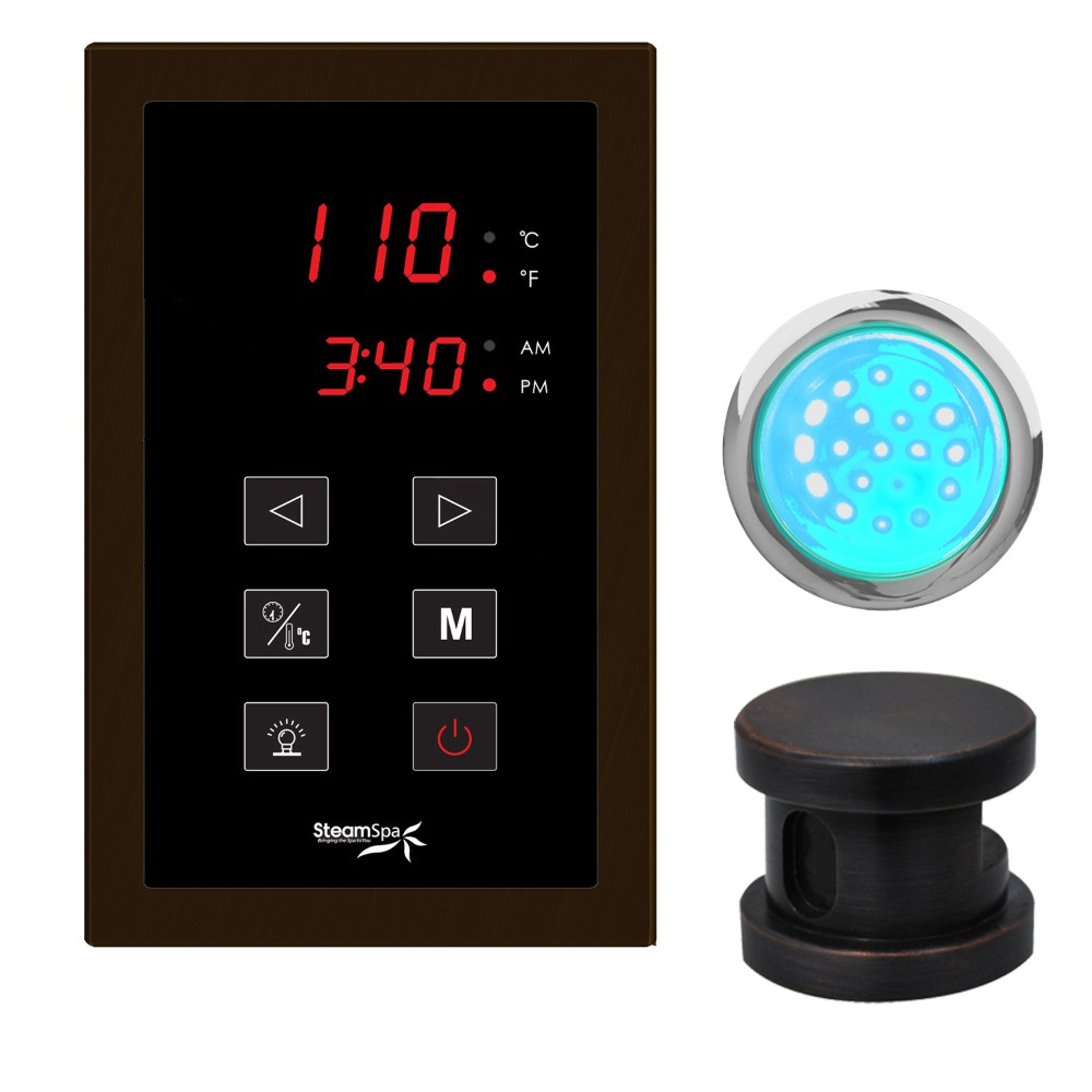 Steamspa Touch Panel Control Kit Oil Rubbed Bronze