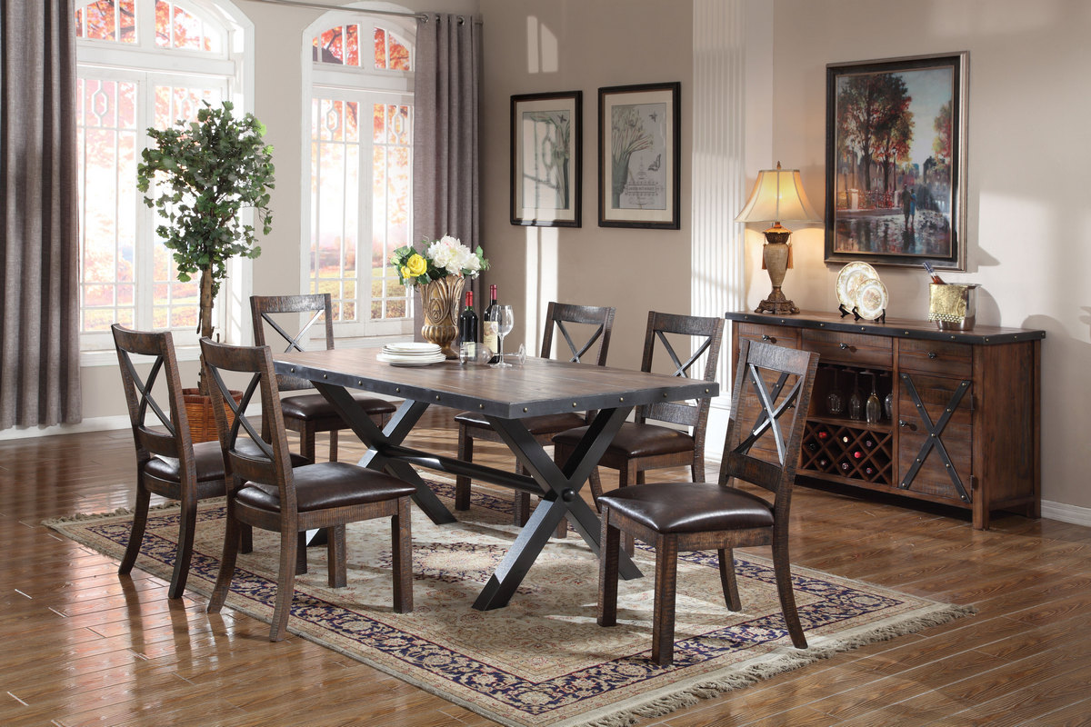 Acme Earvin Dining Table Weathered Oak