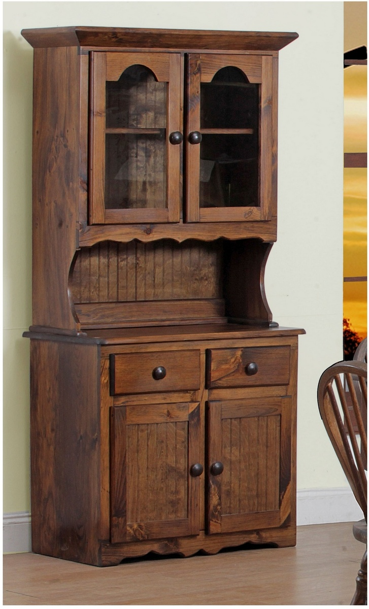 Chelsea Home Eastham Door China Hutch Walnut